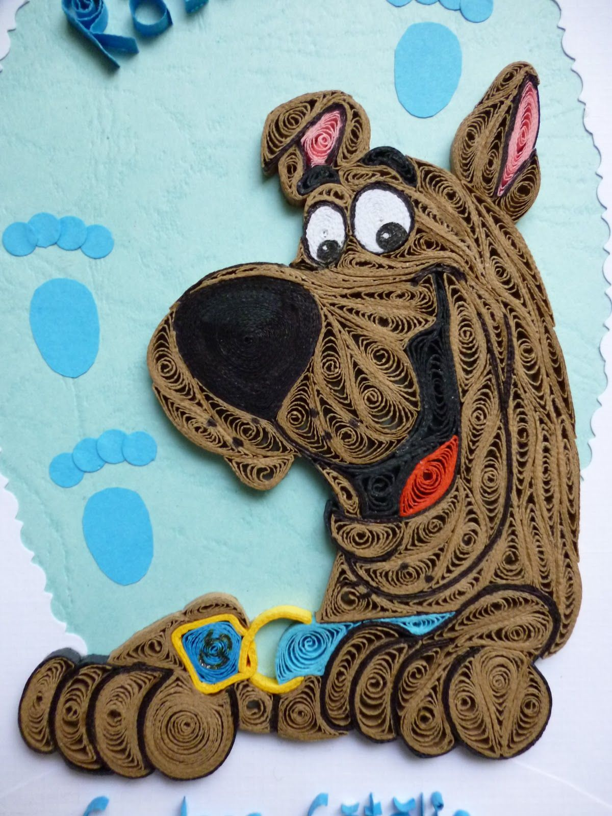 Papírvilág Quilled Scooby Doo Quilling Scooby Doo Quilling
