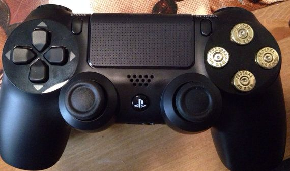 PS4 Controller & Bullet Buttons on Etsy, $90 00 | Makes me