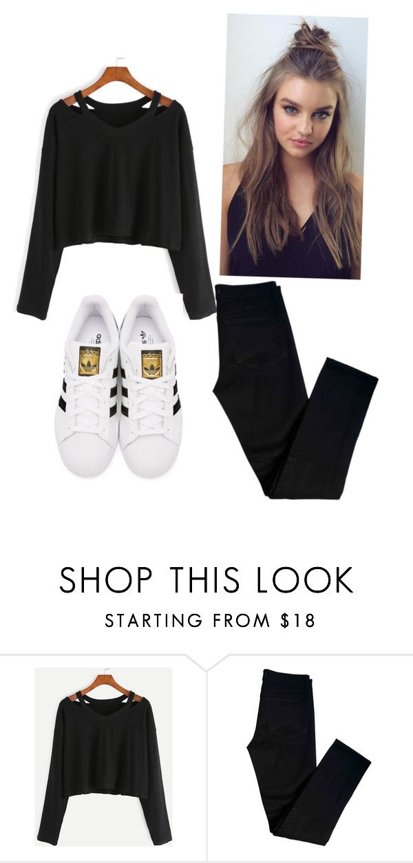 """""""Untitled #4"""" by chrysanthemum-san on Polyvore featuring J Brand and adidas Originals"""