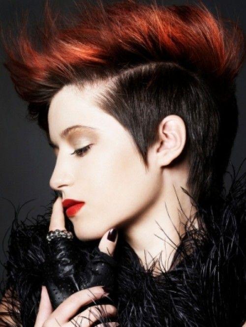 Red Punk Hairstyles For Women Jpg 500 665 Short Punk Hair Punk Haircut Punk Hair