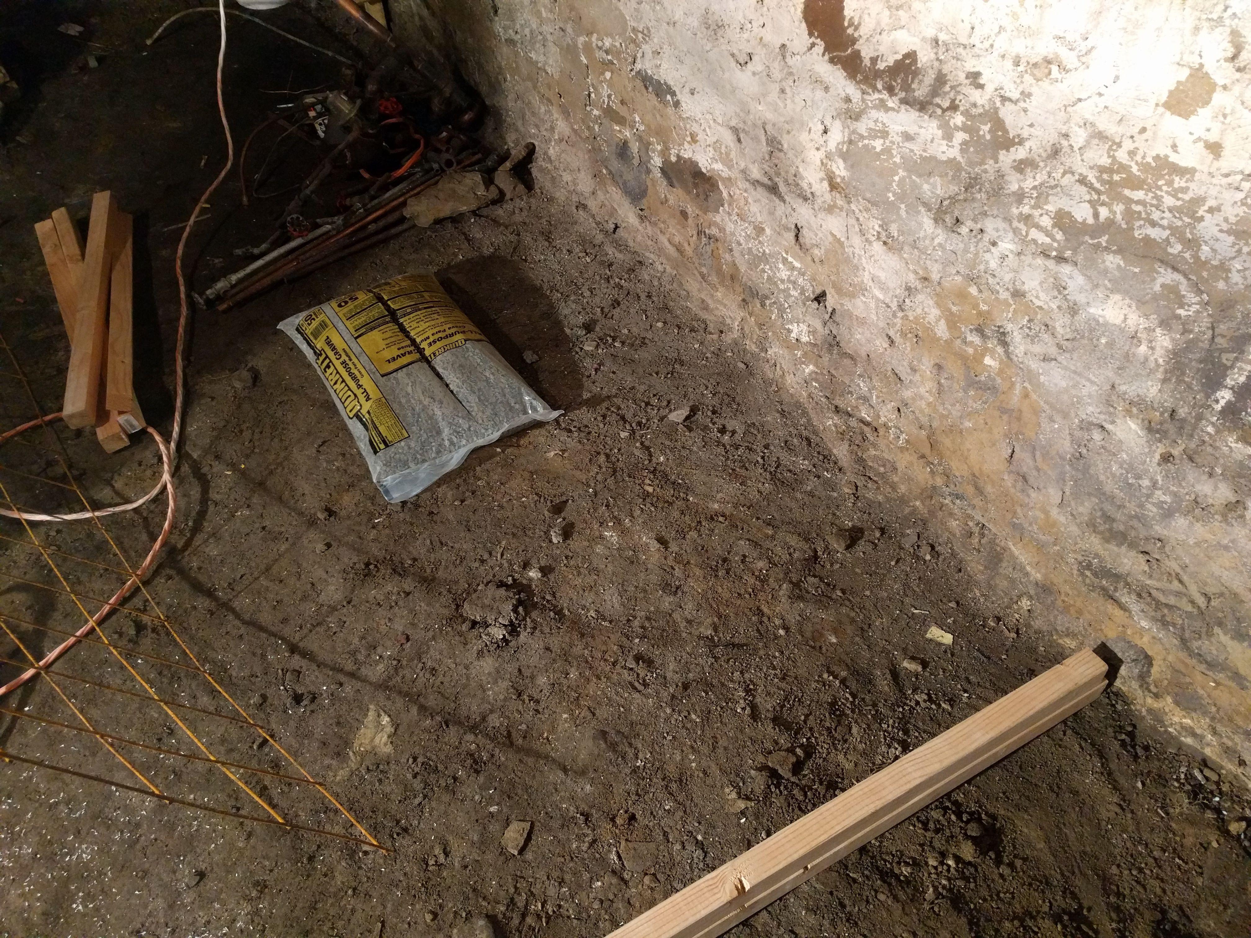 Pour Concrete Over Dirt Basement Floor Basementfloorideas Electrical Wiring Ideas