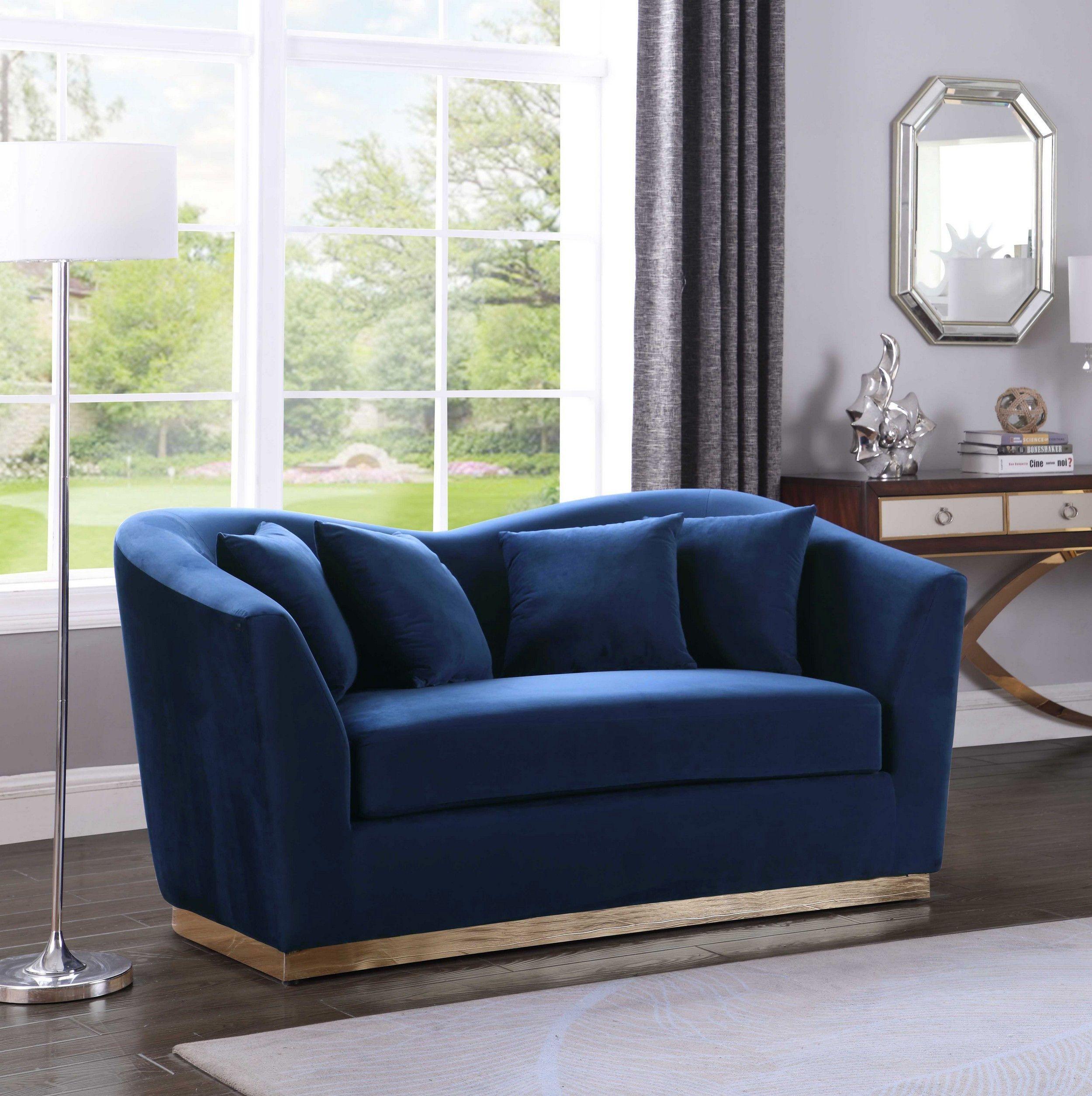 Arabella Navy Loveseat In 2020 Love Seat Sofa Sofa Design