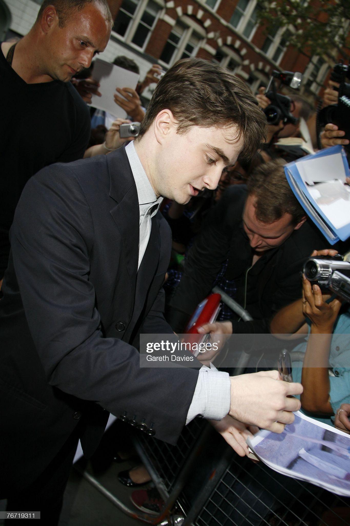 Daniel Radcliffe arrives for the premiere of 'Dece