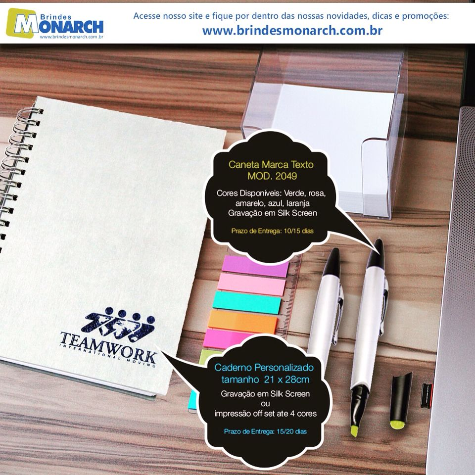 Não perca tempo, faça já seu brinde personalizado e promova sua empresa!! Acesse nosso site e veja todos os nossos produtos: www.brindesmonarch.com.br