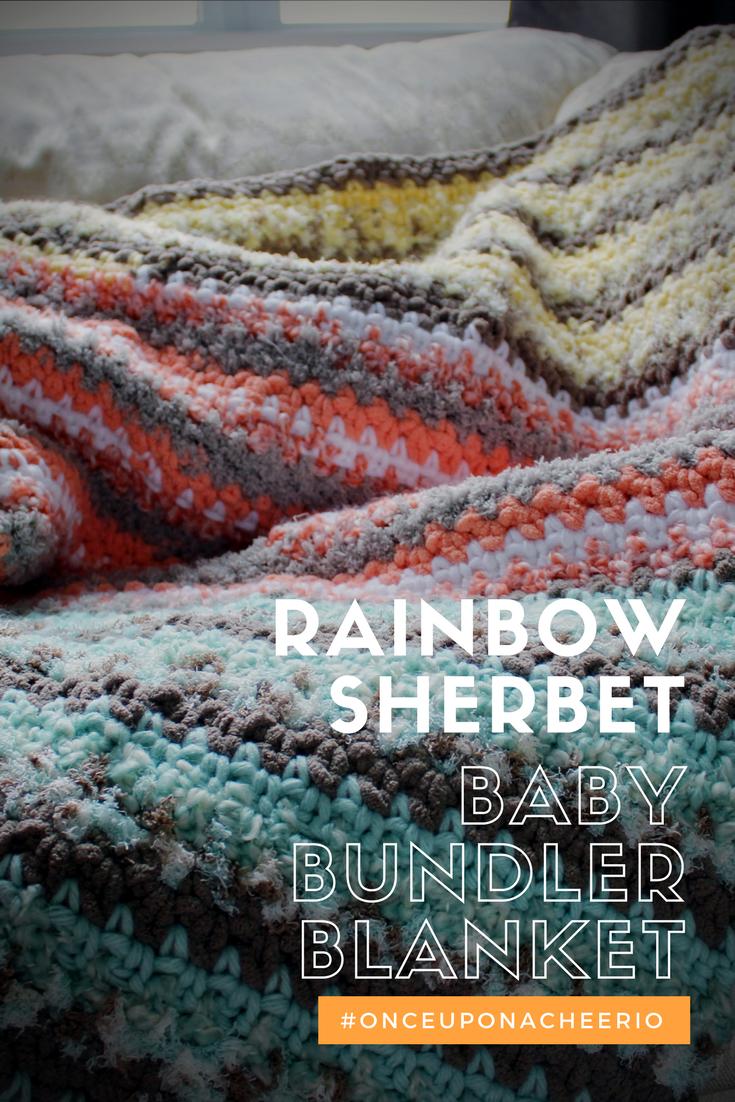 Rainbow Sherbet Baby Bundler   Crochet baby, Crochet for beginners ...