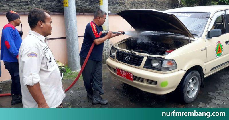 Kedua Kalinya Mobil Dinas Pramuka Rembang Hangus Terbakar Mobil Pramuka Kendaraan