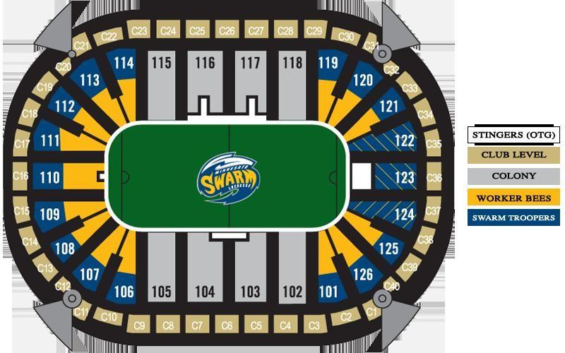Xcel Energy Center lacrosse seating chart | Minnesota Swarm ...