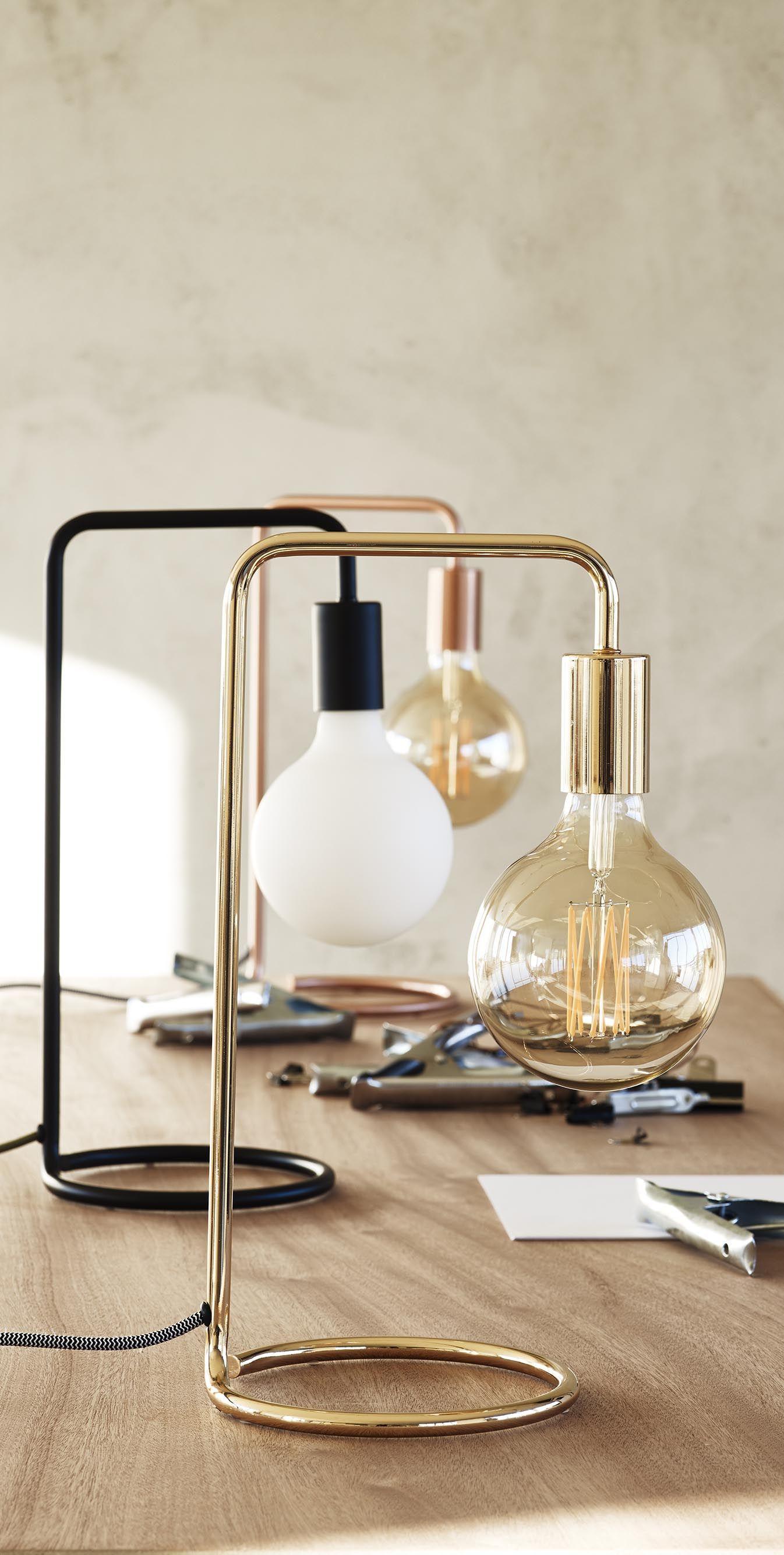 Celio Black Table Lamp | Black table lamps, Retro table ...
