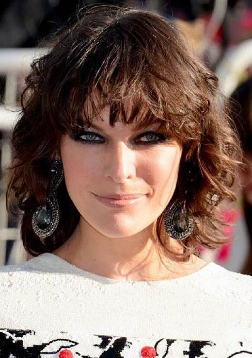 Curly Hair Styles With A Fringe : Short bob hairstyles with bangs for curly hair hairstyles