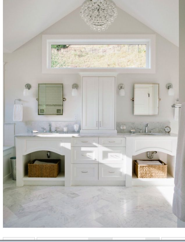 Bathroom Window Above Sink herringbone floors, window above bathroom sinks | dream home