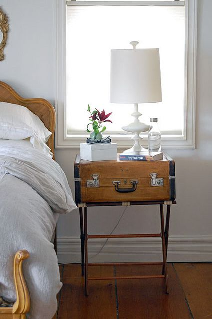 Vintage Luggage Makeover | Vintage luggage, Trays and Side tables
