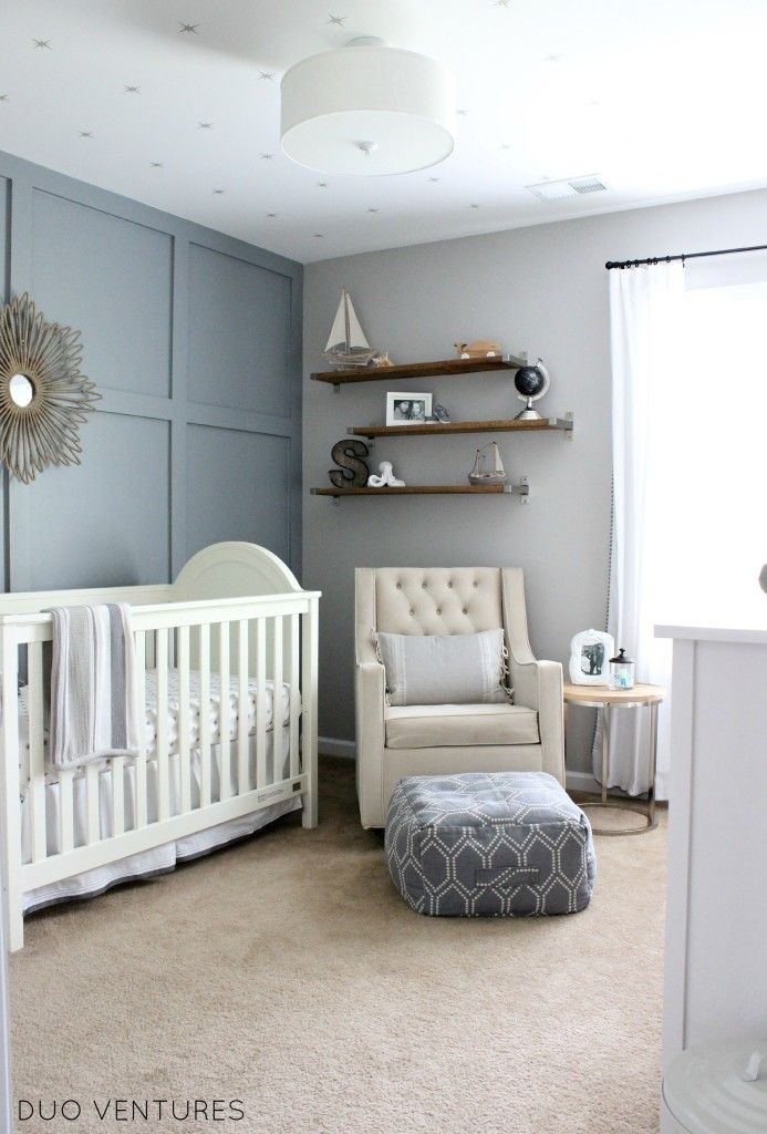 Baby Boy Room Color Ideas: Hamptons Inspired Coastal Nursery