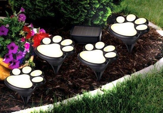 Buy 4 Solar Powered LED Animal Paws Walkway Lights Landscape Garden