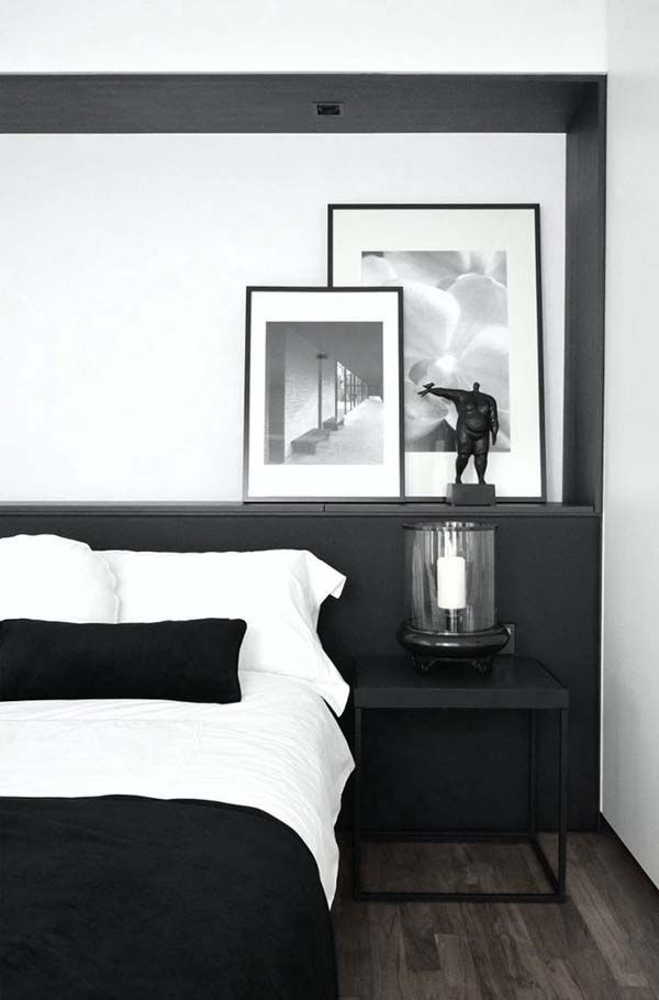 Photo of 33 Chic and stylish bedrooms dressed in black and white