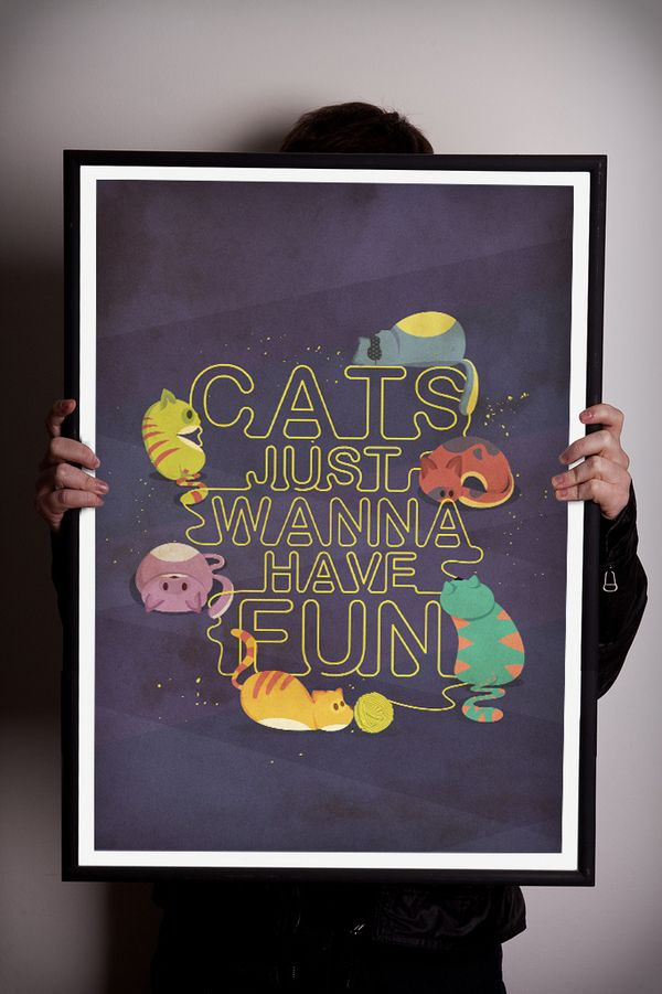 Cats just wanna have fun on Behance