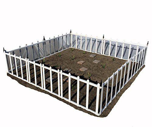 Terra Garden Fence GF 4 (White), Protect U0026 Beautify, 32 Feet