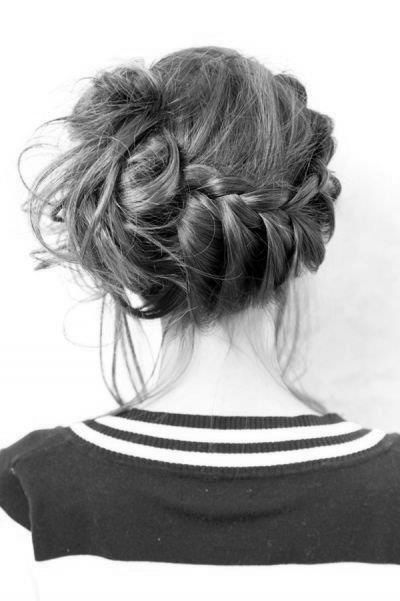 The simple braid and messy bun is in!!!