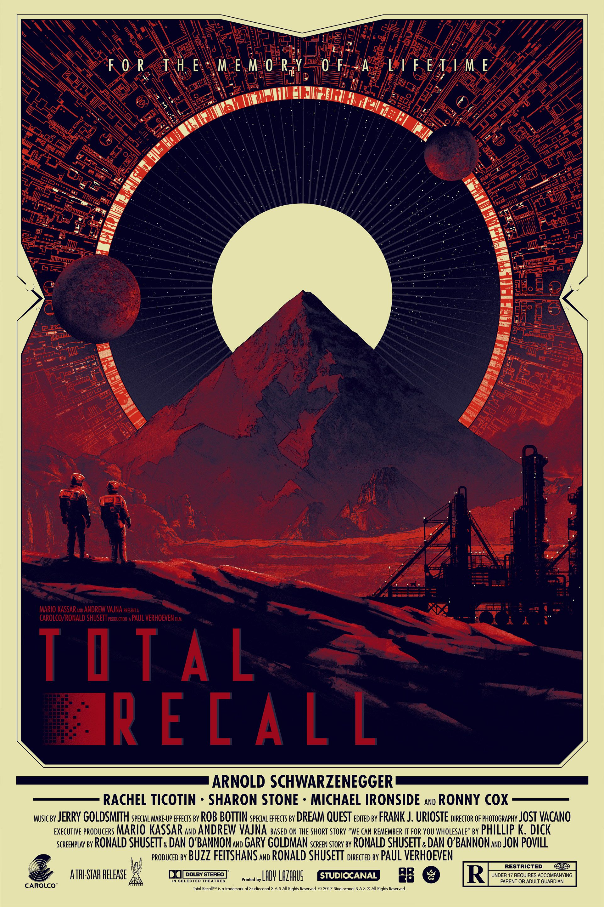 Studio Canal Total Recall /'Total Recall/' T-Shirt NEW /& OFFICIAL! Black