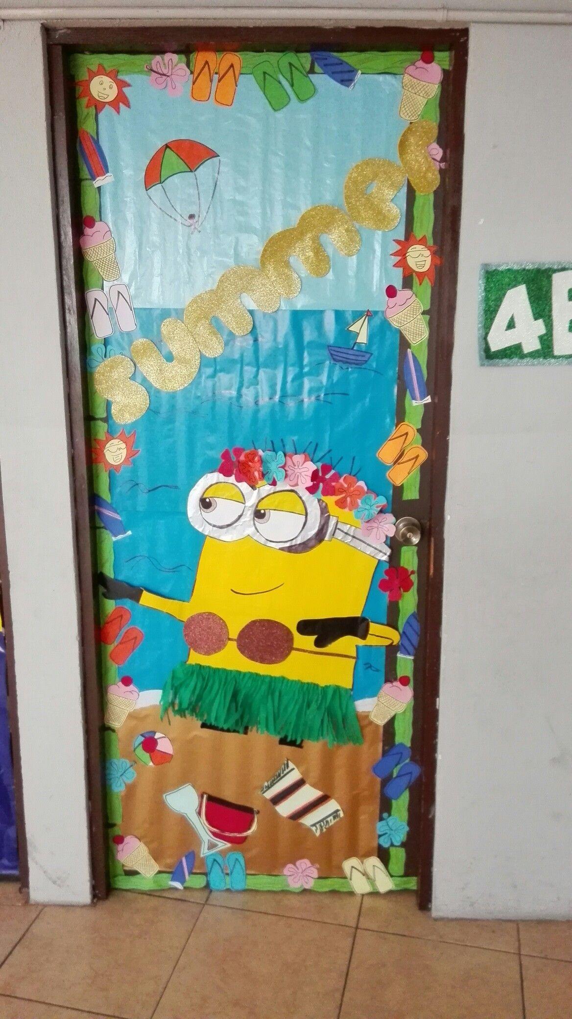 Puerta decorada junio creatividad escolar pinterest for Puertas escolares decoradas