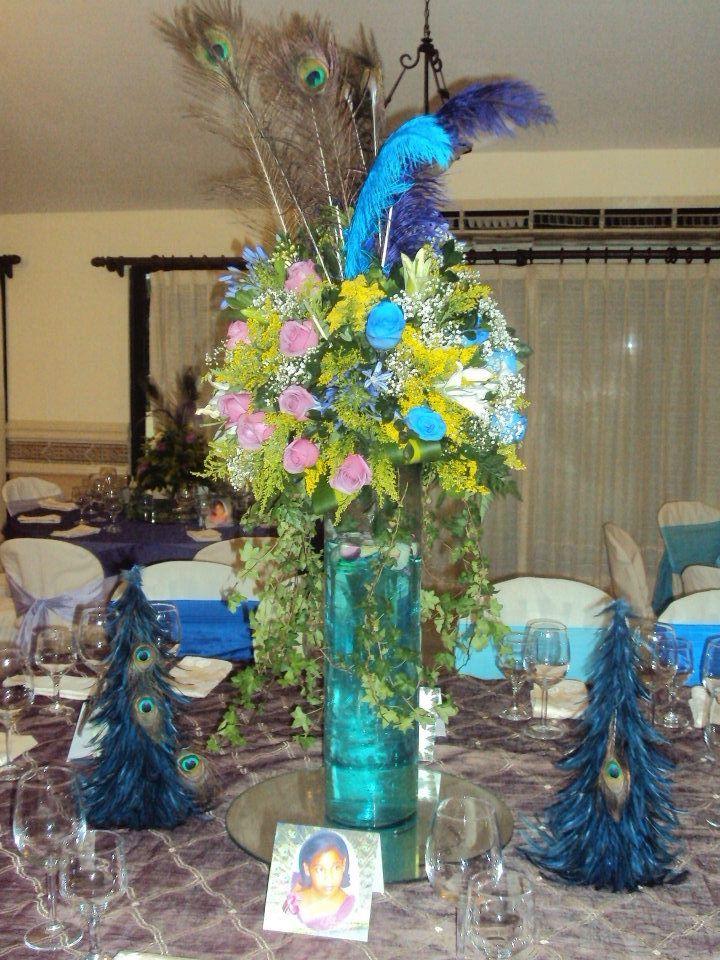 Centro de mesa modelo 3 15 a os peacock pinterest - Modelos de mesa de centro ...