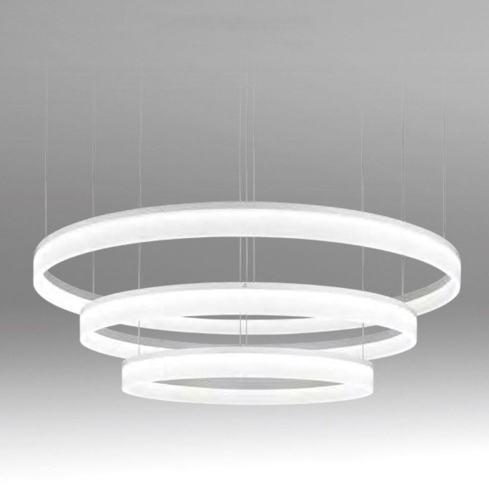 Chandeliers seductive led pendant lights grok circ matt white chandeliers seductive led pendant lights grok circ matt white triple circular led pendant light dusk mozeypictures Images