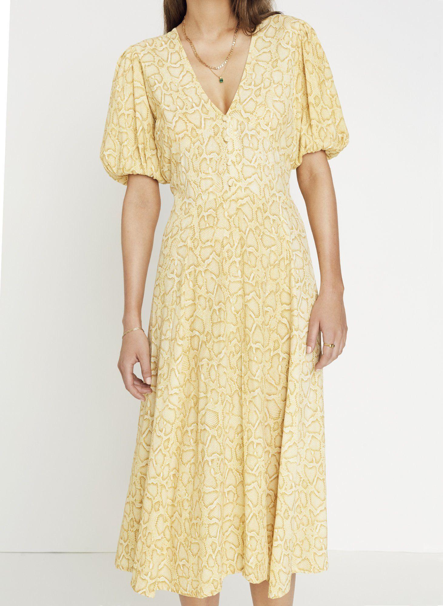 Petra Snake Natural Delia Midi Dress Final Sale Midi Dress Vintage Midi Dresses Midi Dress Summer [ 2000 x 1461 Pixel ]