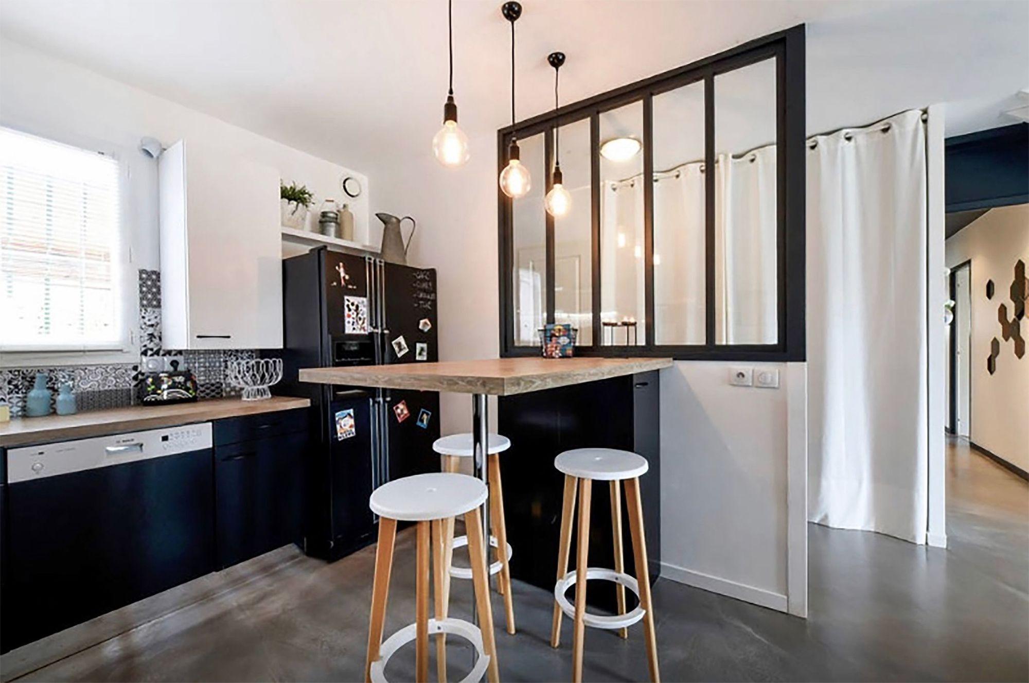 Meuble bar pour cuisine ouverte : nos conseils  Bar cuisine
