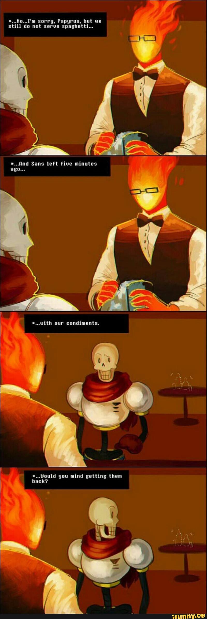 undertale, grillby, papyrus Undertale memes, Undertale