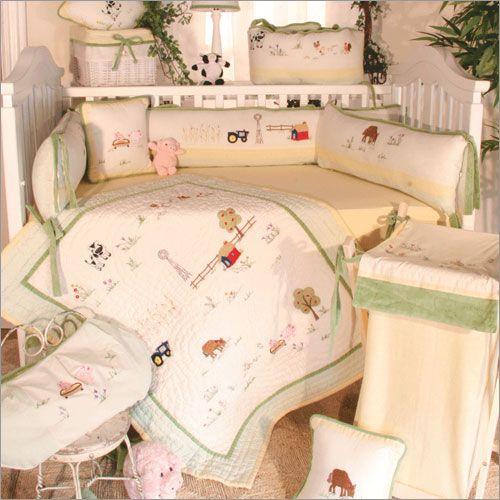 Baby Farm Animals Crib Blankets