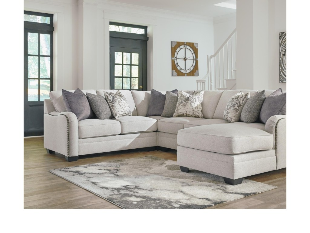 Best Dellara Casual 4 Piece Sectional With Right Chaise By 640 x 480