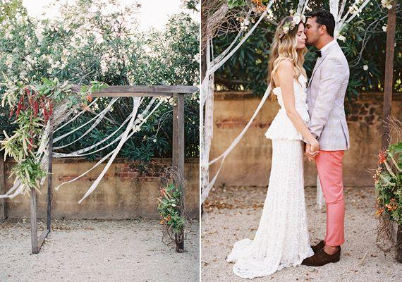 Boho Vintage Wedding Inspiration At Deux Belettes