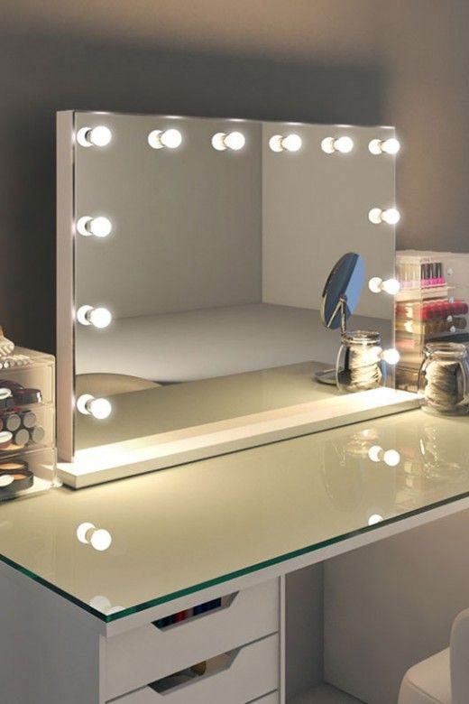 miroir lumineux coiffeuse ikea