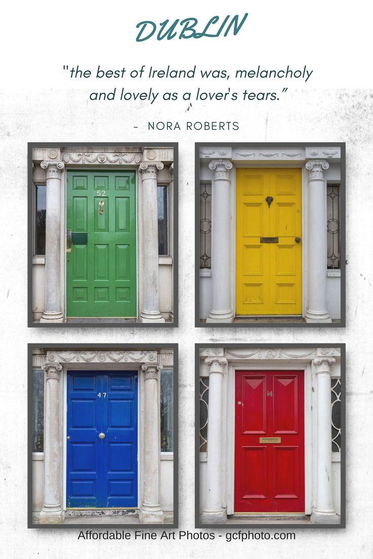 Dublin door art set of photos dublin decor for living room art