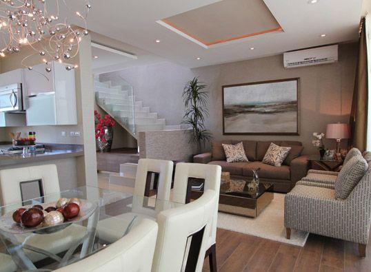 Sala comedor hogar en 2019 living room kitchen house for Casa con cocina y comedor juntos