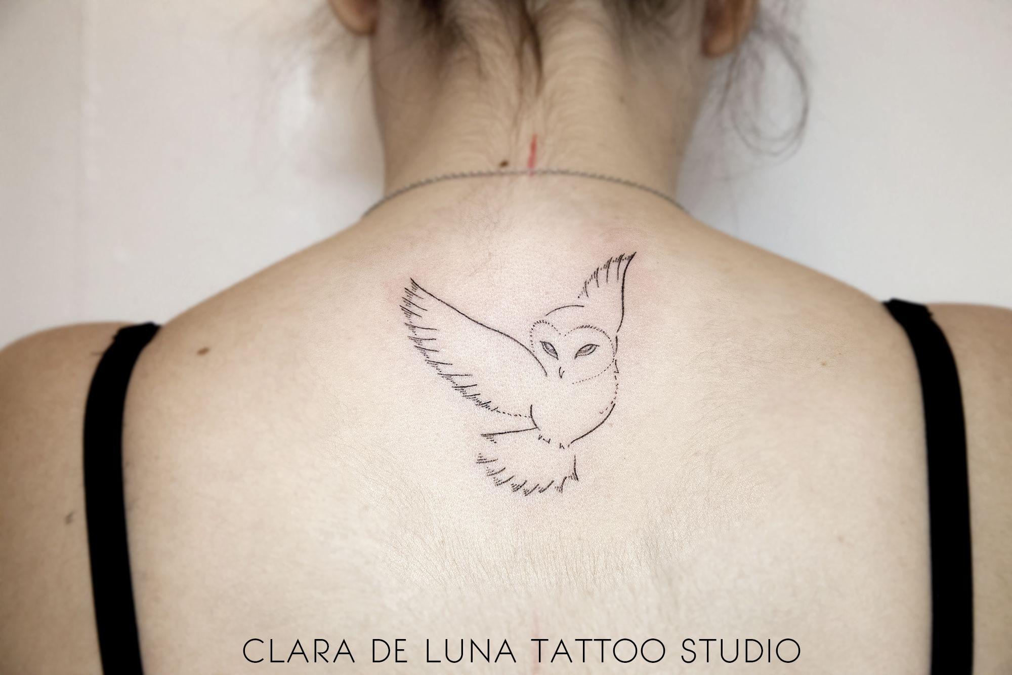 Simple Minimalist Owl Tattoo: Owl Tattoo, Owl Tattoo Small, Small Tattoos