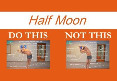 perfecting the bikram yoga poses half moon  bikram yoga