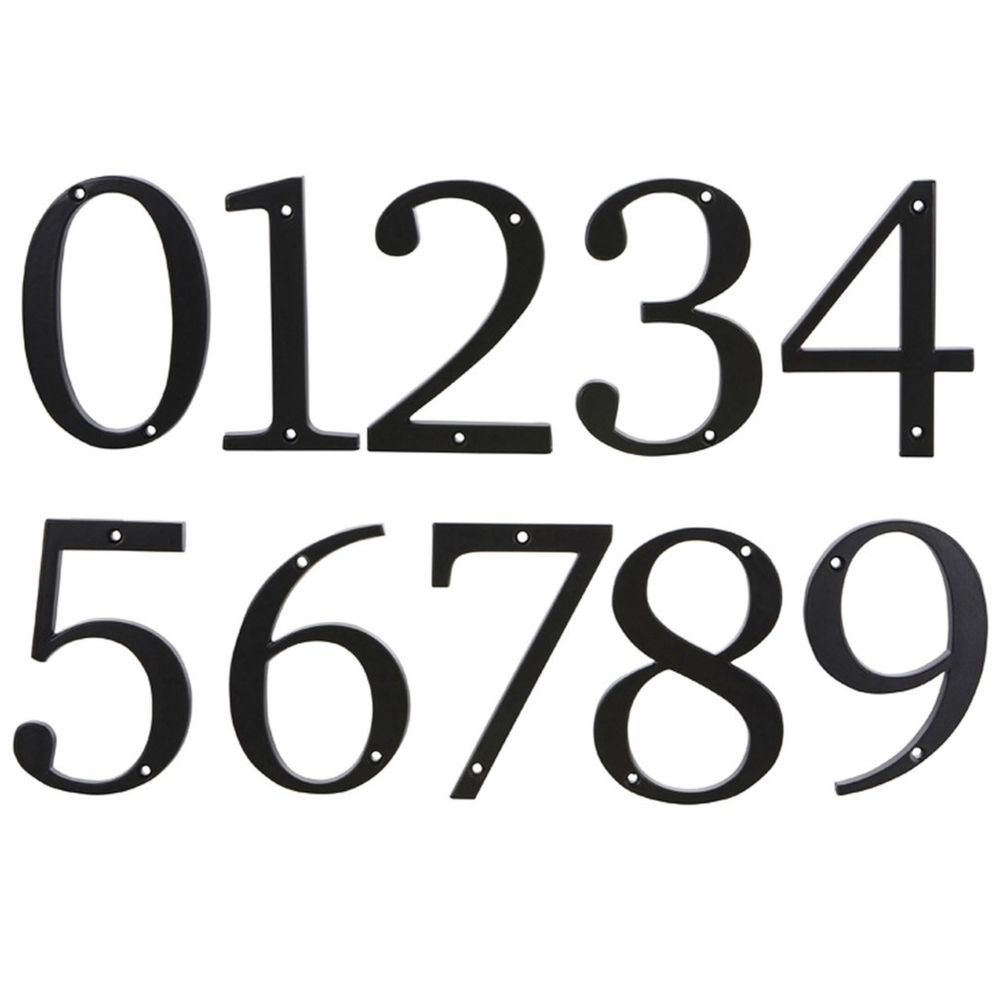 House Number Numeral  Brushed Stainless Steel Numbers and abc selection