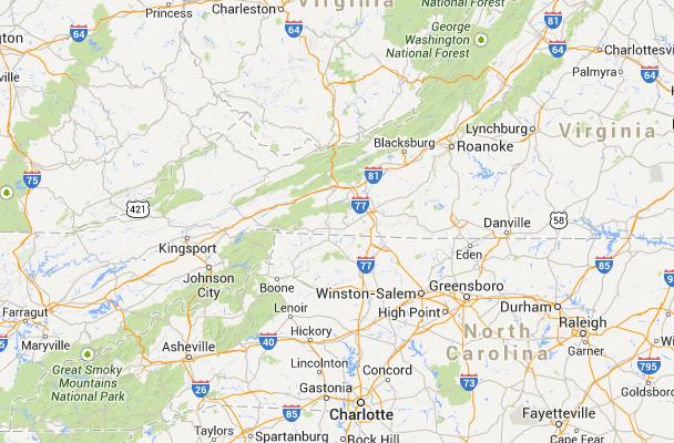 Blue Ridge Parkway - Interactive Map | Travel | North carolina ...