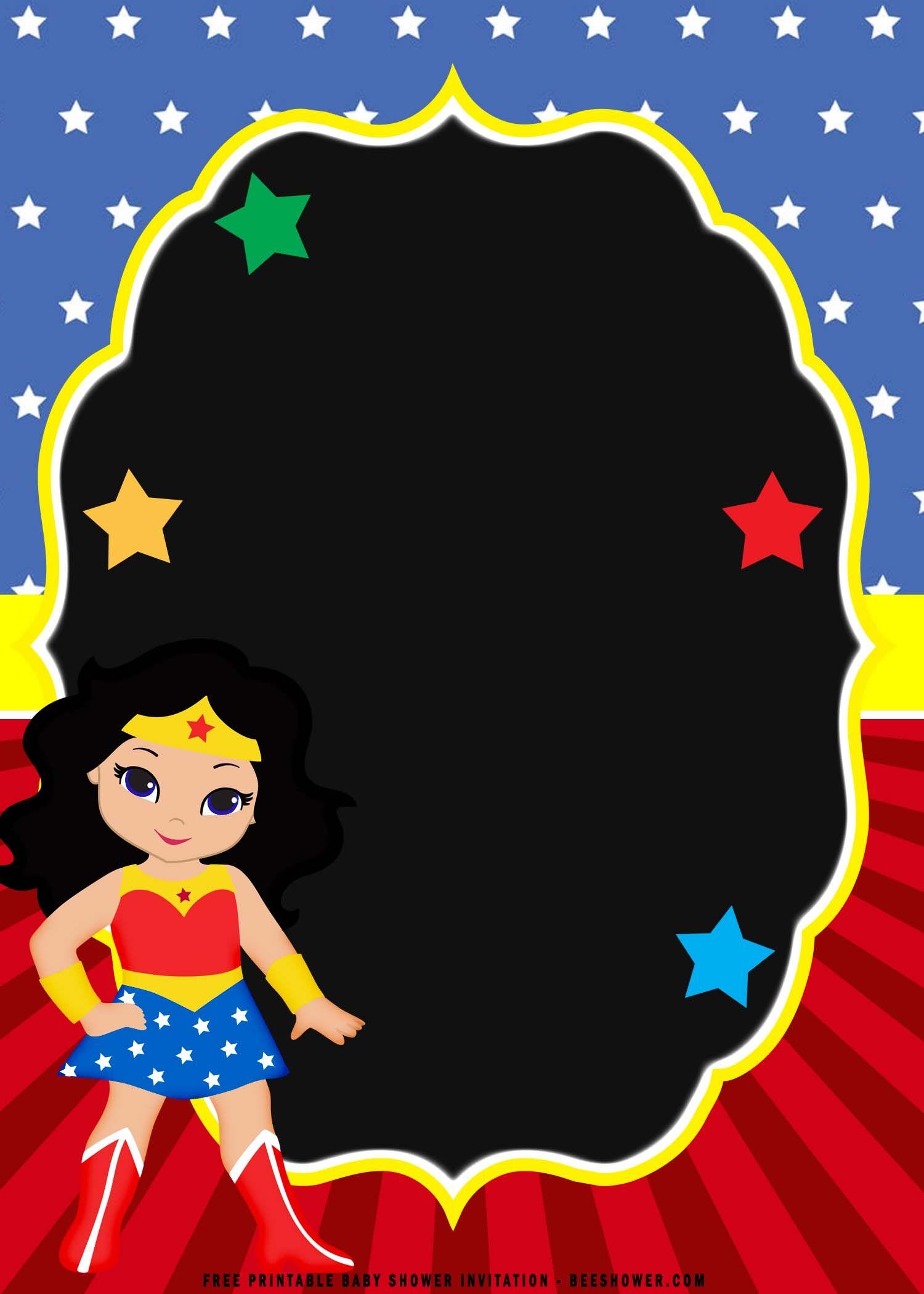 Cool (FREE Printable) Chibi Wonder Woman Birthday