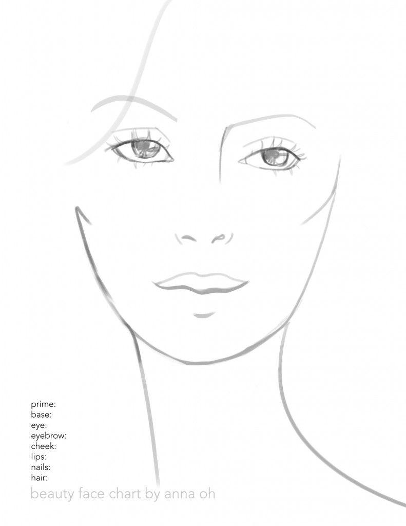 Beauty Makeup Face Chart Free Makeup Face Charts Face Chart Makeup Charts