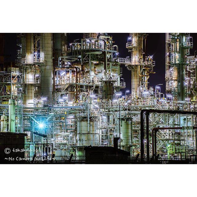 大阪 工場 夜景