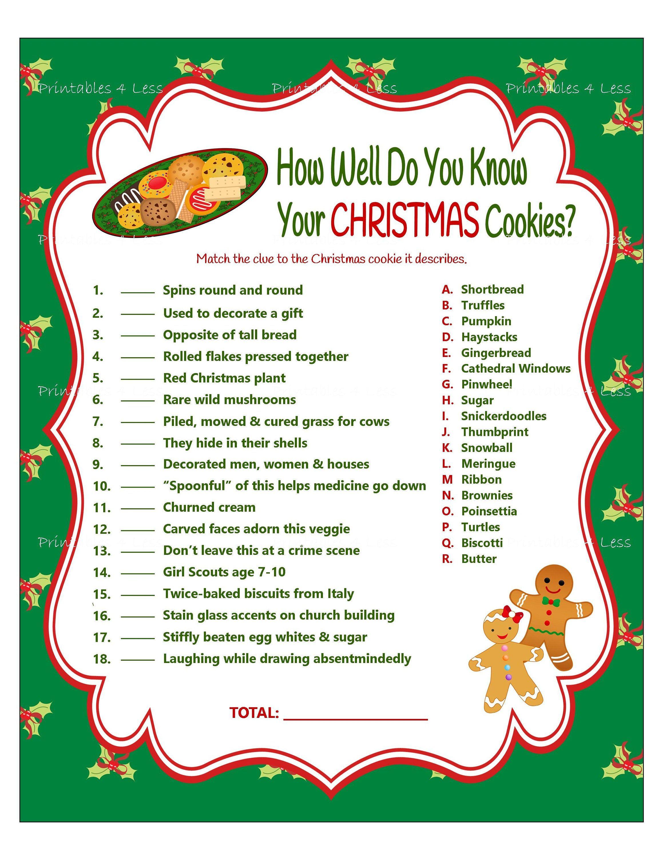 Christmas Game Cookie Jar Game Christmas Party Game