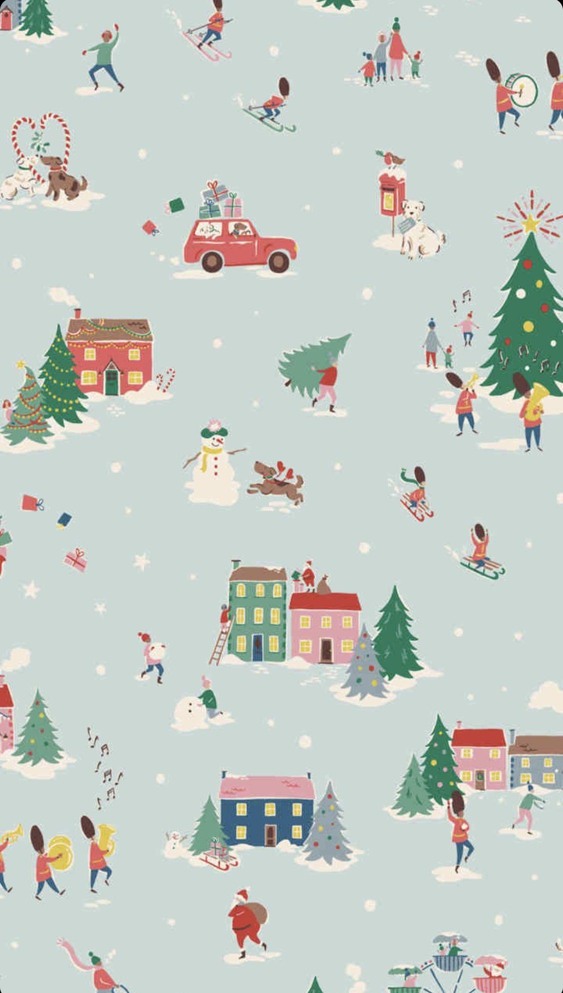 Cath Kidston Christmas 2019 Wallpaper Iphone Christmas Cute Christmas Wallpaper Christmas Wallpaper