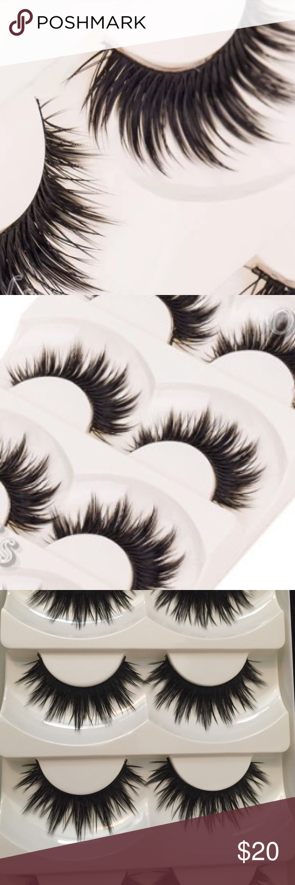 7b338a327c4 Gorgeous magic angel feather false lashes and glue Soft 5 pairs of lashes  (and glue) long, black, thick, natural, homemade lashes.