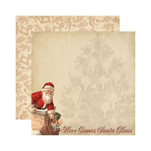 Reminisce - Here Comes Santa Collection - Christmas - 12 x 12 Double Sided Paper - Here Comes Santa at Scrapbook.com