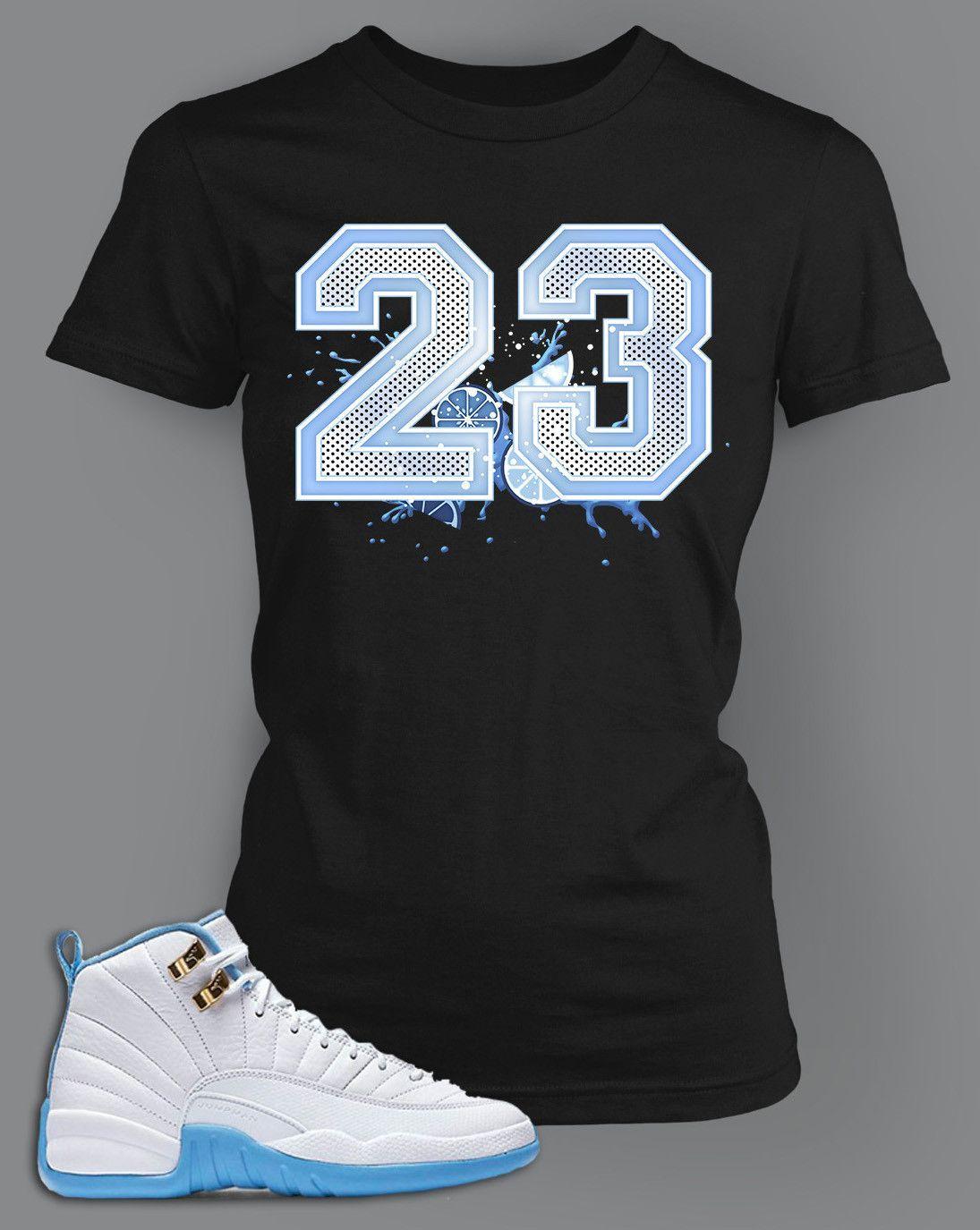 Womens T Shirt To Match Retro Air Jordan 12 Shoe Melo Tee in