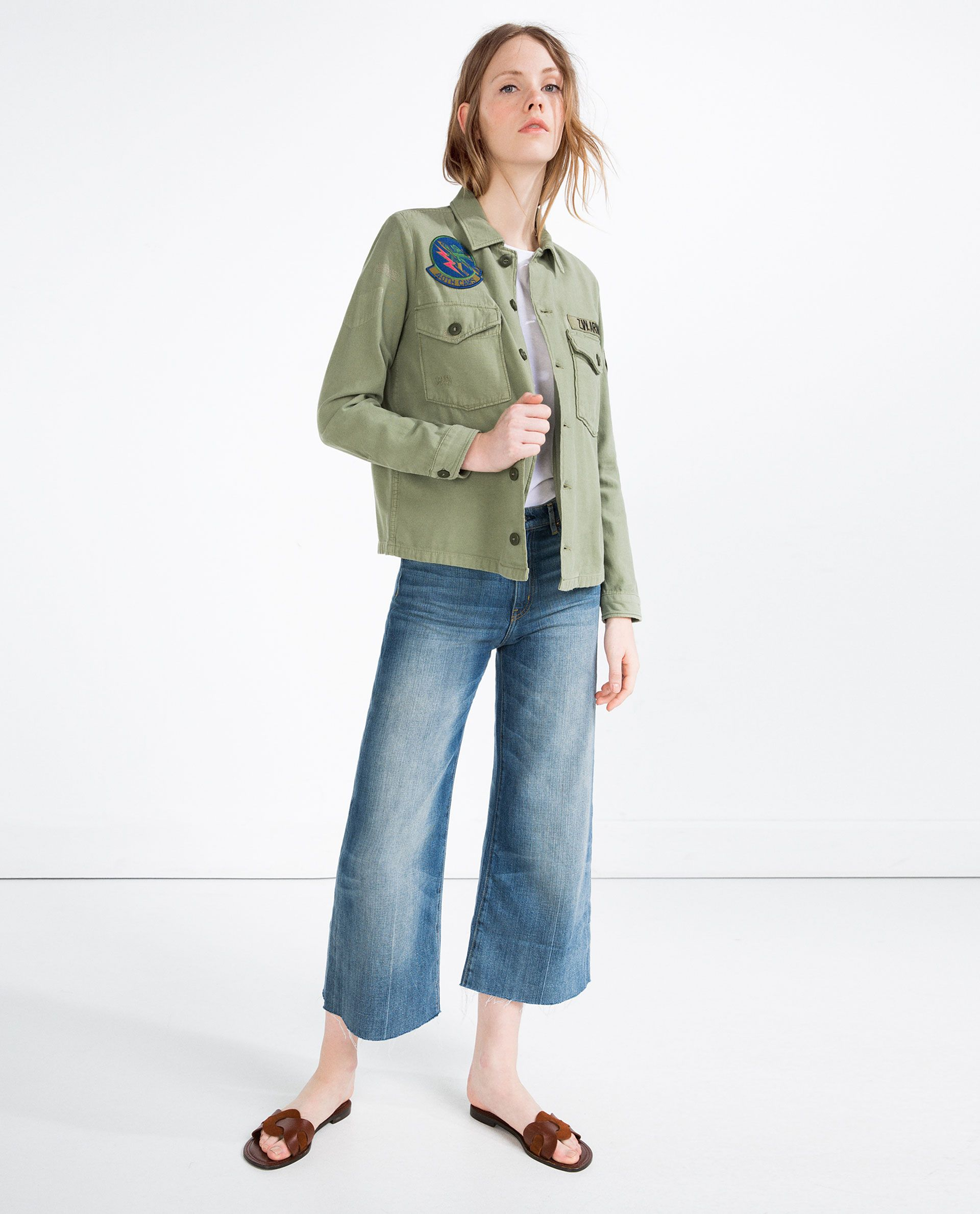 daf94e2bef PATCH OVERSHIRT | beachww | Outerwear women, Jackets, Zara