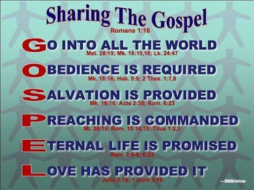 Sharing The Gospel Gospel Message Gospel Words Of Encouragement
