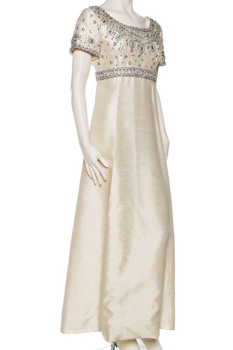 1960s Crystal Beaded Silk Radzimir Gown Gowns, Empire