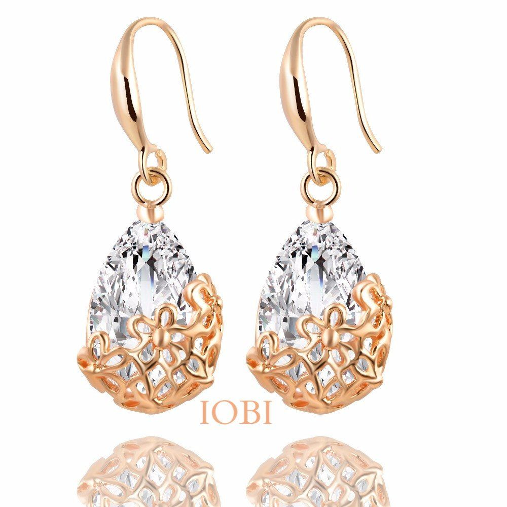18k gold plated stunning infused diamond dust 6ctw crystal